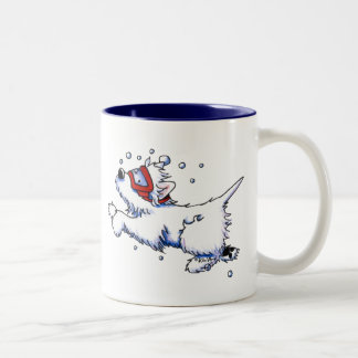 Snorkel Westie Two-Tone Coffee Mug