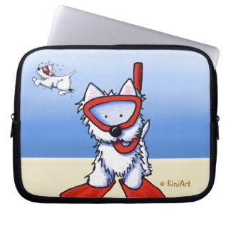 Snorkel Westies Laptop Sleeve