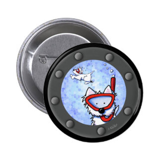 Snorkel Westies Porthole Button