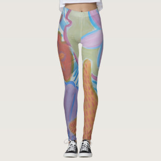 Snorkeler's Dream Leggings - starfish & shells