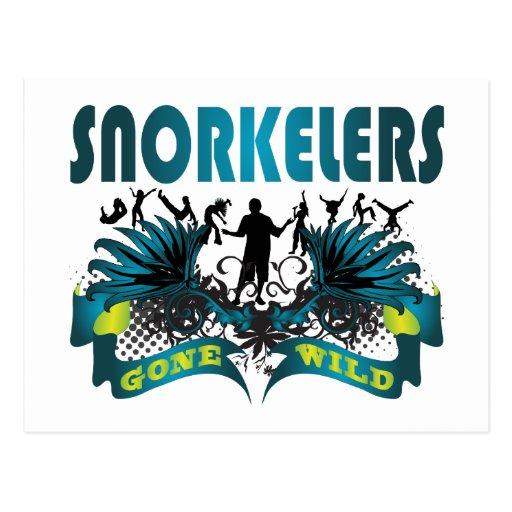 Snorkelers Gone Wild Postcard