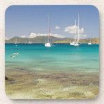 Snorkelers in idyllic Pirates Bight cove, Bight, Drink Coaster