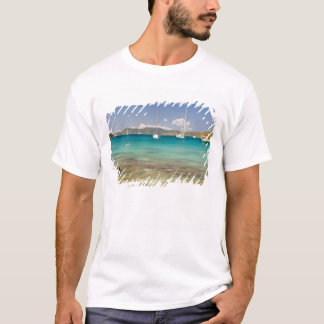 Snorkelers in idyllic Pirates Bight cove, Bight, T-Shirt