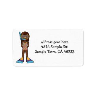 snorkelgirl label