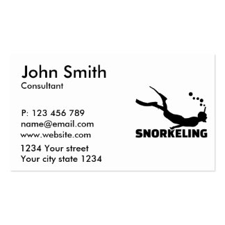 Snorkeling Business Card