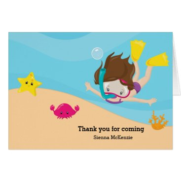 Beach Themed Snorkeling Card