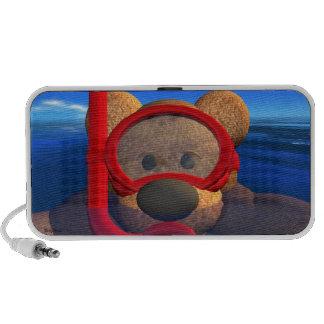 Snorkeling Dinky Bear Travelling Speakers
