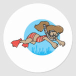 Snorkeling Girl Stickers