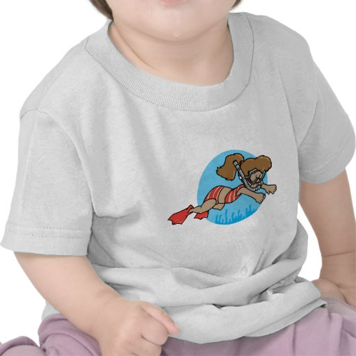 Snorkeling Girl Tee Shirt