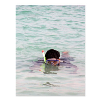 Snorkeling in the Lakshadweep Islands Post Card