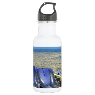 snorkeling in the red sea stainless steel water bottle
