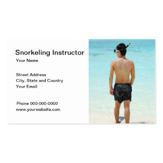 Snorkeling Instructor Business Card