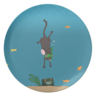 Snorkeling Mouse Plate