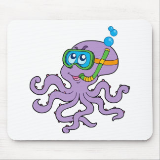 Snorkeling Octopus Mouse Pad
