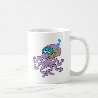 Snorkeling Octopus Classic White Coffee Mug