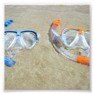 Snorkeling Pair Photo Print