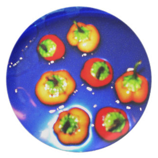 Snorkeling Peppers Party Plate