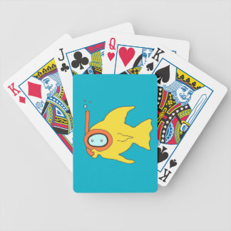 Snorkeling Swimming Yellow Fish Bicycle Playing Cards