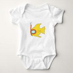 Snorkeling Swimming Yellow Fish Shirt