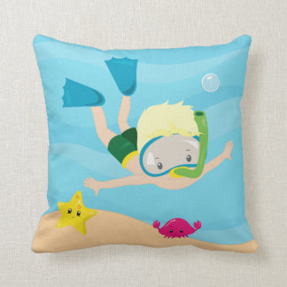 Snorkeling Throw Pillow