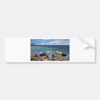 snorkeling tools bumper sticker