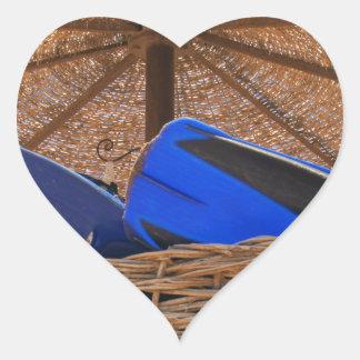 snorkeling tools heart sticker