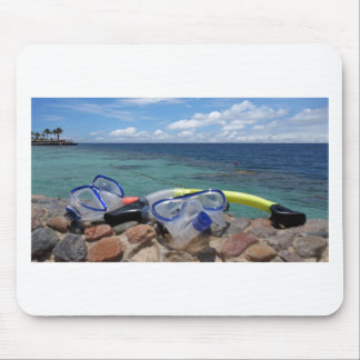 snorkeling tools mouse pad