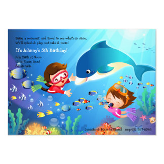 Snorkeling Tots Birthday Party Invitation