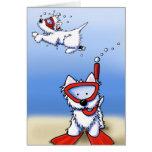 Snorkeling Westies Note Card