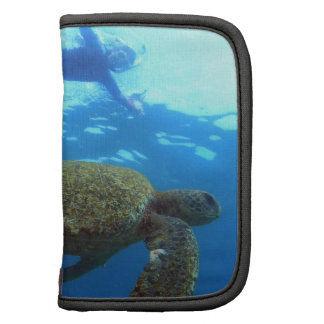 Snorkeling with sea turtle Galapagos Islands Folio Planner