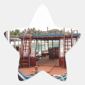 Snorkelling Boat Star Sticker