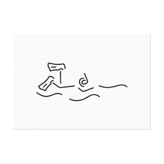 snorkels dip divers canvas print