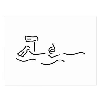 snorkels dip divers postcard