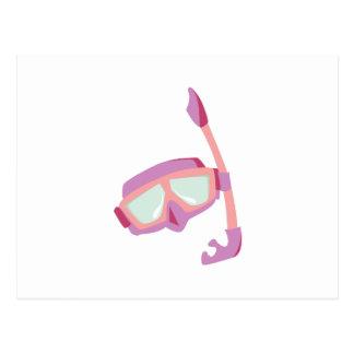 Snorkle Mask Post Card