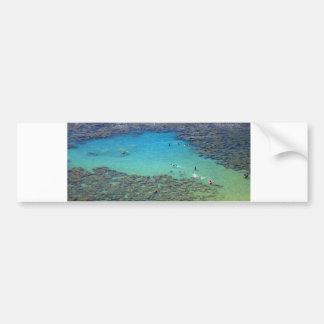 Snorklers at Hanauma Bay, Oahu, Hawaii Bumper Sticker