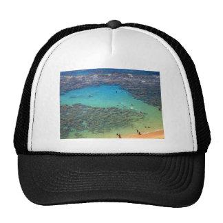 Snorklers at Hanauma Bay, Oahu, Hawaii Mesh Hats