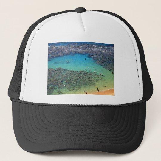 Snorklers at Hanauma Bay, Oahu, Hawaii Trucker Hat