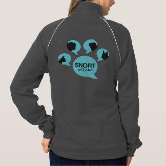 "SNORT ""be their voice"" paw zip up Printed Jacket"