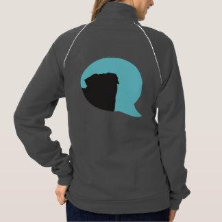 "SNORT ""be their voice"" pug zip up American Apparel Fleece Track Jacket"