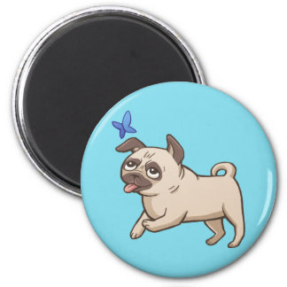 SNORT Fawn Pug Magnet