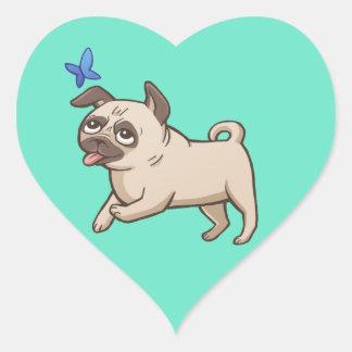 SNORT Pug Love Sticker