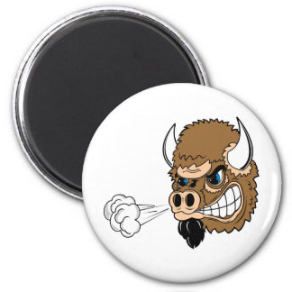 Snorting Bull 2 Inch Round Magnet
