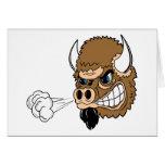 Snorting Bull Greeting Card