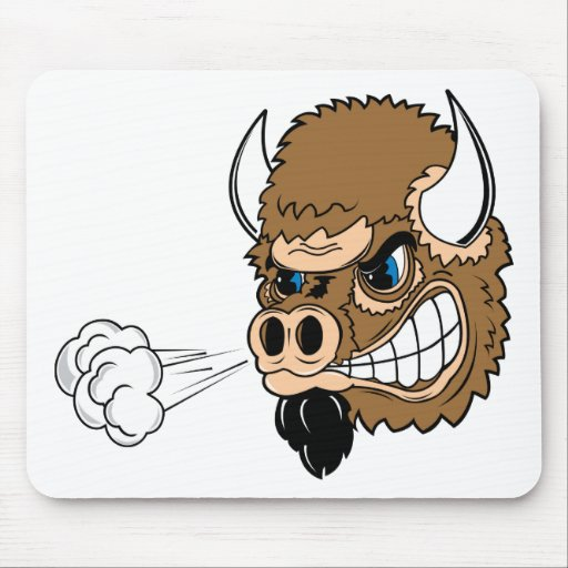 Snorting Bull Mouse Pad