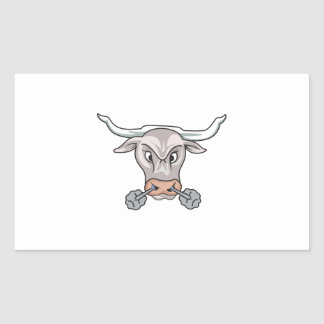 Snorting Bull Rectangular Sticker