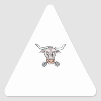 Snorting Bull Triangle Stickers