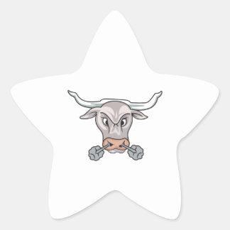Snorting Bull Star Stickers