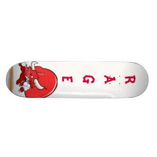 snorting-red-bull skateboard deck