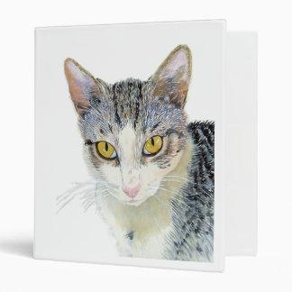 Snoshu the Cat 3 Ring Binder