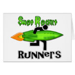 Snot Rocket Runners Greeting Cards
